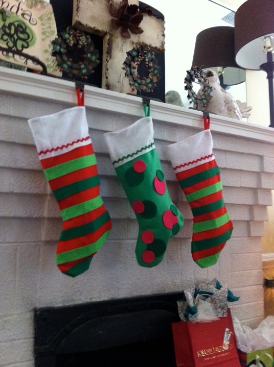 Christmas Decorations Stockings and Stocking Holders