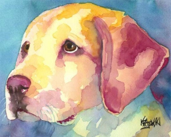 Etsy Seller DogArtStudio Watercolor Print of Labrador Retriever